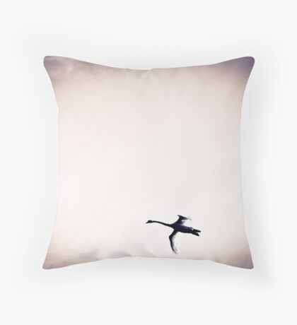 Three Swans Throw Pillow