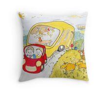 Caravan Fun Throw Pillow