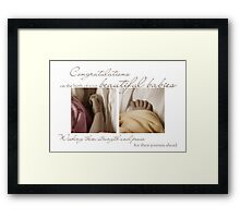 New Born Multiple Babies - NICU Stay Framed Print