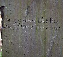 For Goodness Sake Fix his Stone  Up Again by Andy Smith