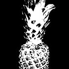 Black & White Pineapple  by BenDevenish