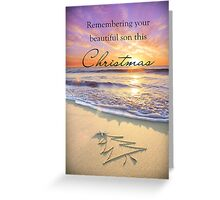 Remembering a Son - Christmas Greeting Card