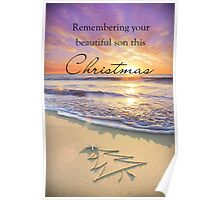 Remembering a Son - Christmas Poster
