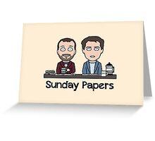 Sunday Papers (shirt/print/card) Greeting Card