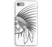 American indian tribe leader.   iPhone Case/Skin