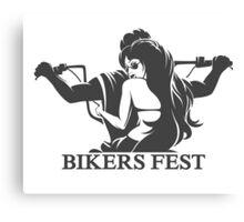 Bikers Fest Emblem Canvas Print