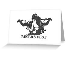 Bikers Fest Emblem Greeting Card
