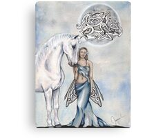 A Little White Magic Canvas Print