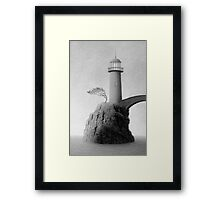 Lost Harbor Light Framed Print