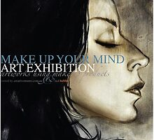 make up your mind art exhibition poster by mimi yoon