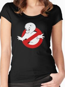 Friendly Ghost busters Women's Fitted Scoop T-Shirt