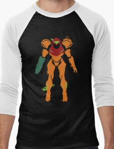 Samus Aran Splattery T Men's Baseball ¾ T-Shirt