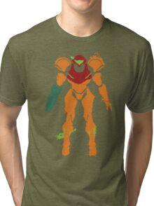 Samus Aran Splattery T Tri-blend T-Shirt