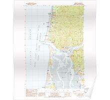 USGS Topo Map Oregon Garibaldi 279986 1985 24000 Poster