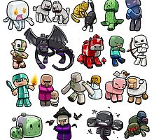 Cute Minecraft Mobs by Graphy