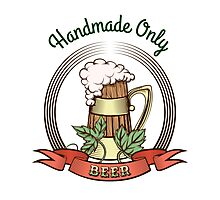 Beer Mug in Vintage Style Photographic Print