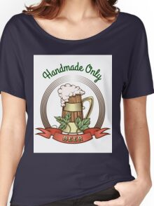Beer Mug in Vintage Style Women's Relaxed Fit T-Shirt