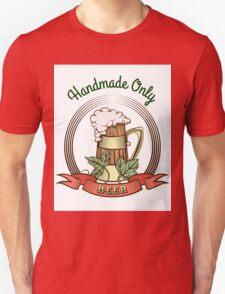 Beer Mug in Vintage Style T-Shirt