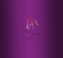 """Horselover"" violet edit by scatharis"