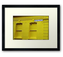 Orange Street Framed Print