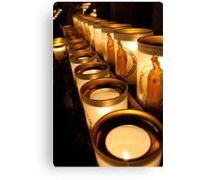 Votive Candles Notre Dame Canvas Print
