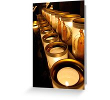 Votive Candles Notre Dame Greeting Card