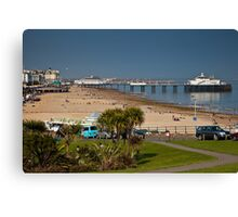 Eastbourne Wishtower Slopes and Pier Canvas Print