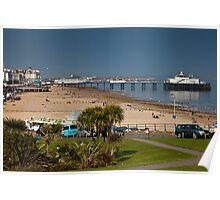 Eastbourne Wishtower Slopes and Pier Poster