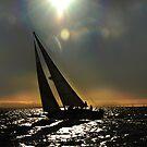 Sun Silhouette Sailing by linaji