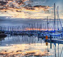 Sunset at the Marina by Mari  Wirta