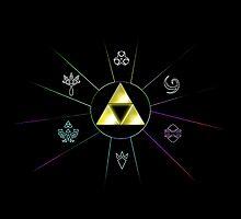 Zelda Triforce Symbol by alexasean