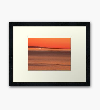 Early Morning at Sea 1 Framed Print