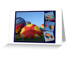 Balloons, Collage, morning launch Greeting Card