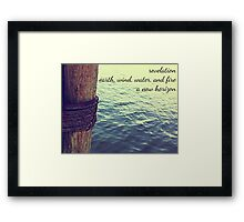 harbor Framed Print