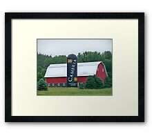 Cambria Silo Barn Framed Print