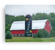 Cambria Silo Barn Metal Print