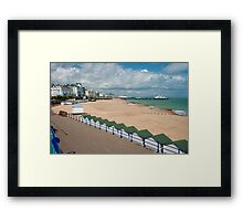 Eastbourne Beach - Sussex England Framed Print