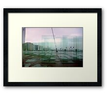 Paris Glass Framed Print