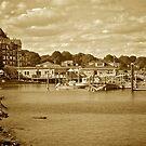 Jamestown Marina - Conanicut Island - Sepia by Jack McCabe