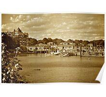 Jamestown Marina - Conanicut Island - Sepia Poster