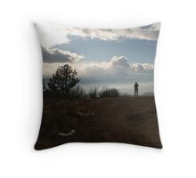 """""""Lord, I'm Here To Talk With You""""  (Psalm 27:8) Throw Pillow"""