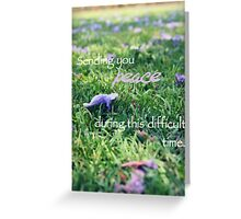 Sending you peace Greeting Card