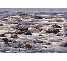 Streaming Rocks Photographic Print