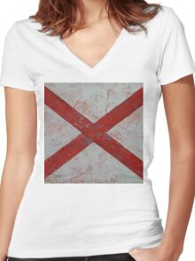 Alabama Women's Fitted V-Neck T-Shirt