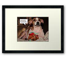 I Got You This For Christmas Framed Print