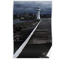Old Wollongong Harbour Lighthouse  Poster