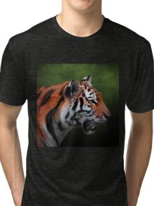 A Leader - Siberian Tiger Art Tri-blend T-Shirt