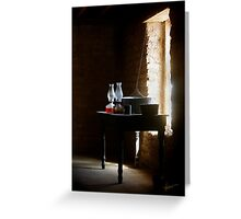 Standing in the Shadow of Time Greeting Card