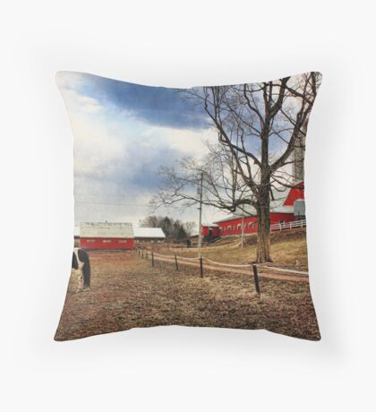 Shady Lane Farm Throw Pillow