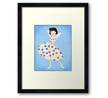 Toon Girl Framed Print